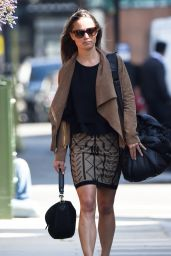 Pippa Middleton in a Short Skirt - Out in Chelsea, April 2015