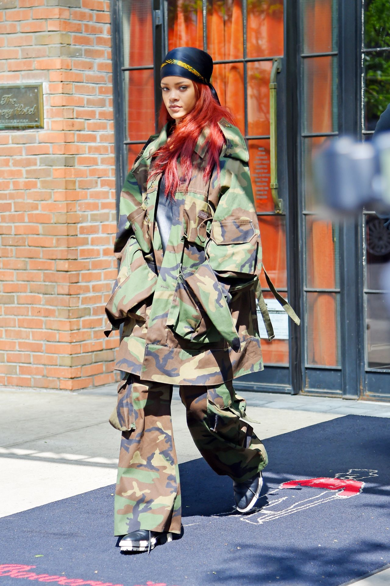 Rihanna Dresses Up In Military Gear Leaving The Bowery Hotel Nyc May 2017
