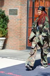 Rihanna Dresses Up in Military Gear - Leaving the Bowery Hotel in NYC, May 2015