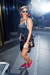 Rihanna Style - Arriving at a Hotel in NYC, May 2015