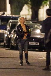 Rita Ora - Filming Her Music Video - Corinthia Hotel in London, May 2015