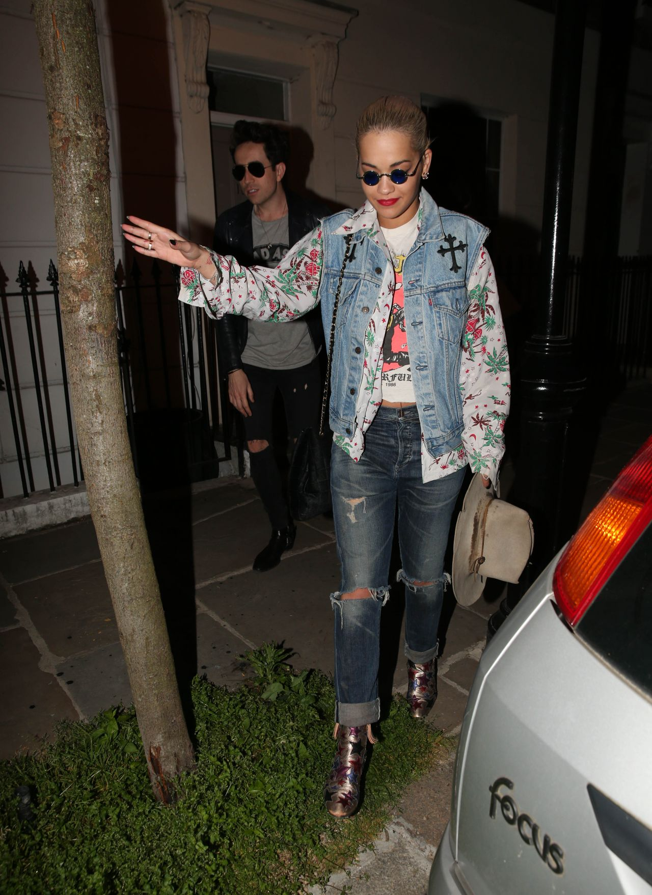 Rita Ora Leaving A Party At A Friend S House In London