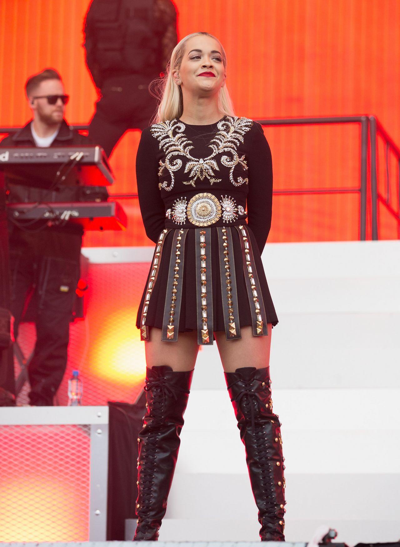 Rita Ora Performs at BBC Radio 1's Big Weekend 2015, Day 2 ...