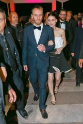 Rooney Mara Night Out Style - Leaving the Bâoli Beach Restaurant in Cannes, May 2015