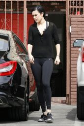 Rumer Willis Booty in Tights at Dancing With the Stars Rehearsals in Hollywood, May 2015