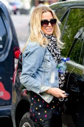 Sarah Harding in Tights - Walking Her Dog in Primrose Hill, May 2015