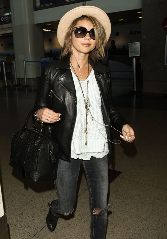 Sarah Hyland at LAX Airport, May 2015