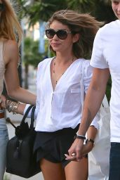 Sarah Hyland Shows Off Her Legs - Out in LA, April 2015