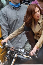 Scarlett Johansson - Captain America: Civil War SEt Photos - Atlanta, May 2015