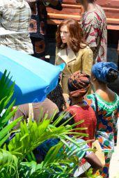 Scarlett Johansson - Captain America: Civil War Set Photos, May 2015