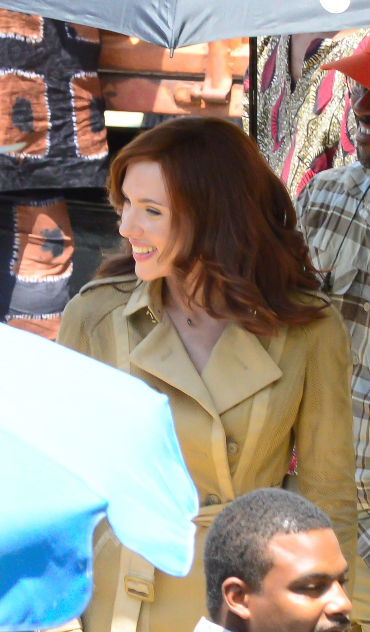 Scarlett Johansson Captain America Civil War Set Photos