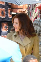 Scarlett Johansson - Captain America: Civil War Set Photos, May 2015