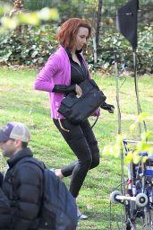 Scarlett Johansson - Filming Scenes For Saturday Night Live in New York