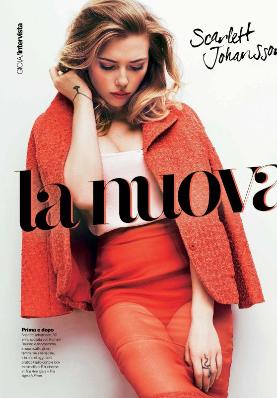 Scarlett Johansson - Gioia Magazine (Spain) May 2015 Issue