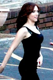 Scarlett Johansson On the Set of Captain America: Civil War in Atlanta - May 2015