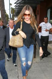 Sofia Vergara Booty in Ripped Jeans - Out in Beverly Hills, May 2015