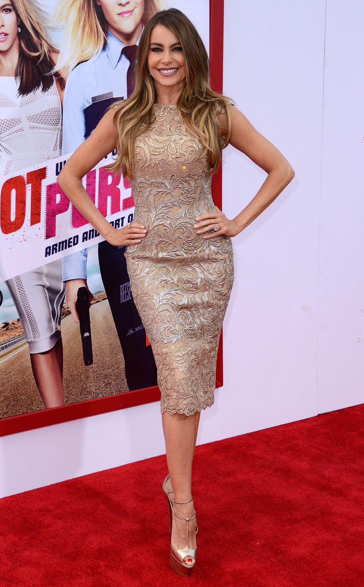 Sofia Vergara On Red Carpet Hot Pursuit Premiere In