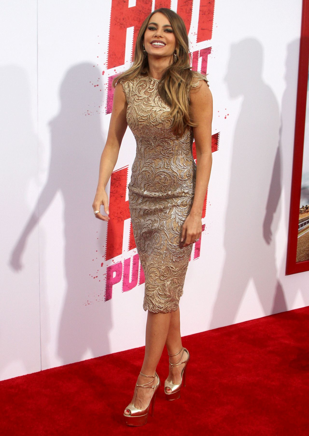 Sofia Vergara On Red Carpet Hot Pursuit Premiere In