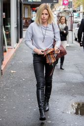 Sophie Monk Street Style - Rainy Day in Sydney, Australia, April 2015