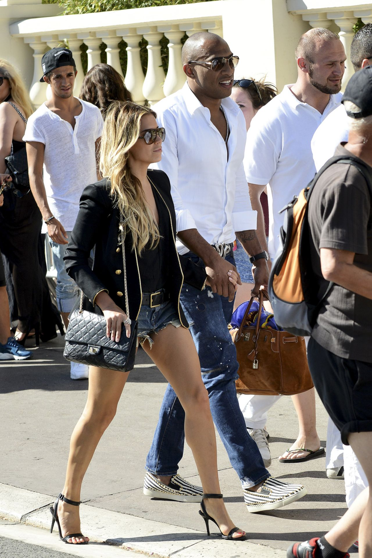 Sylvie Meis Maurice Mobetie Out In Cannes May 2015