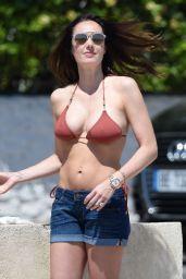 Tamara Ecclestone in a Bikini at a Beach in France, May 2015