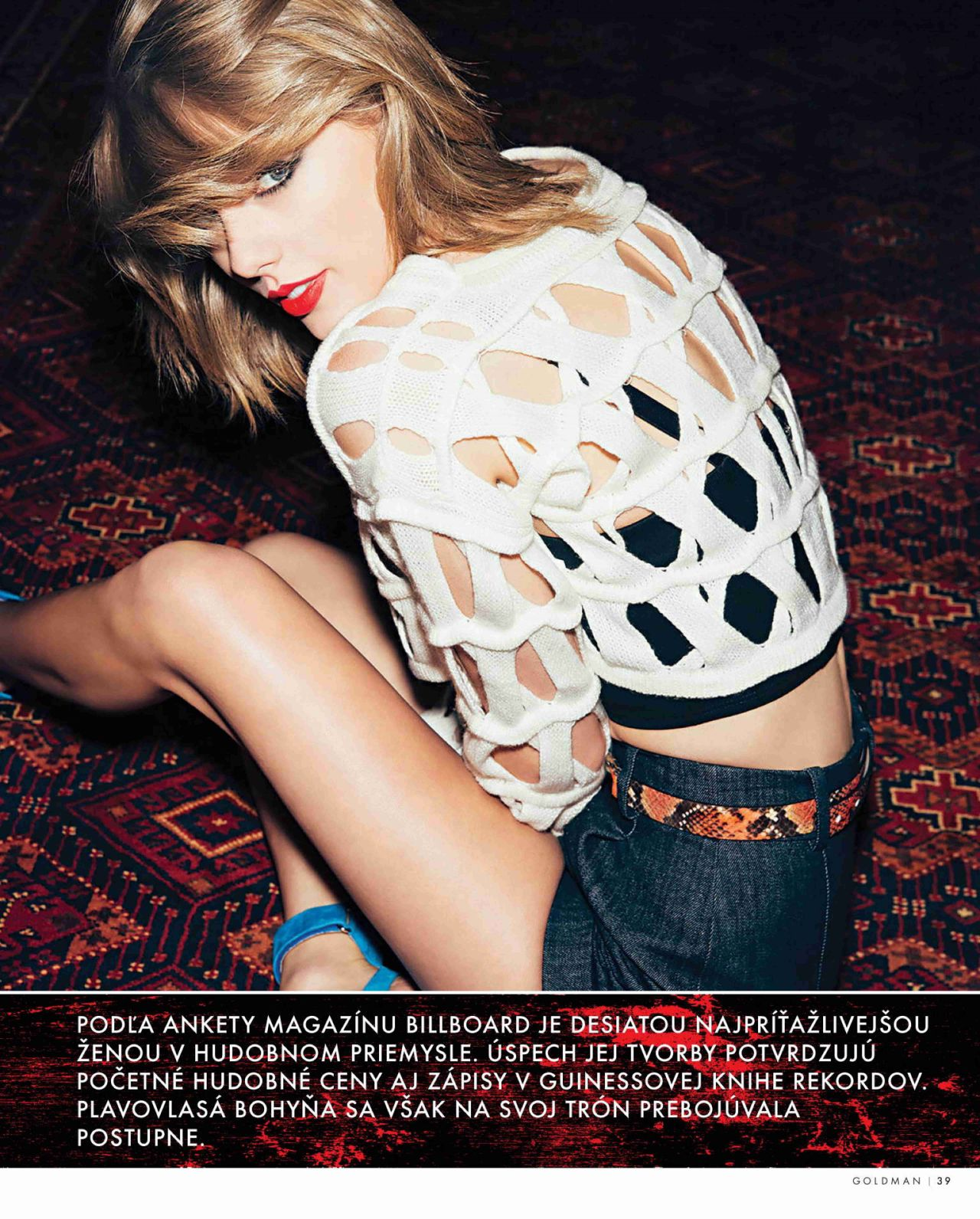 Taylor Swift - GoldManMagazine April 2015 Issue
