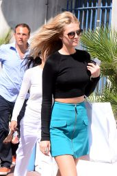 Toni Garrn Style - Arrive Back at Hotel Martinez in Cannes, May 2015