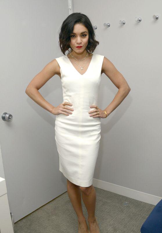 Vanessa Hudgens Fashion - Backstage at CBS Studios in New York, May 2015