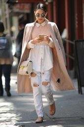 Vanessa Hudgens in Ripped Jeans - Out in Soho, New York City, May 2015