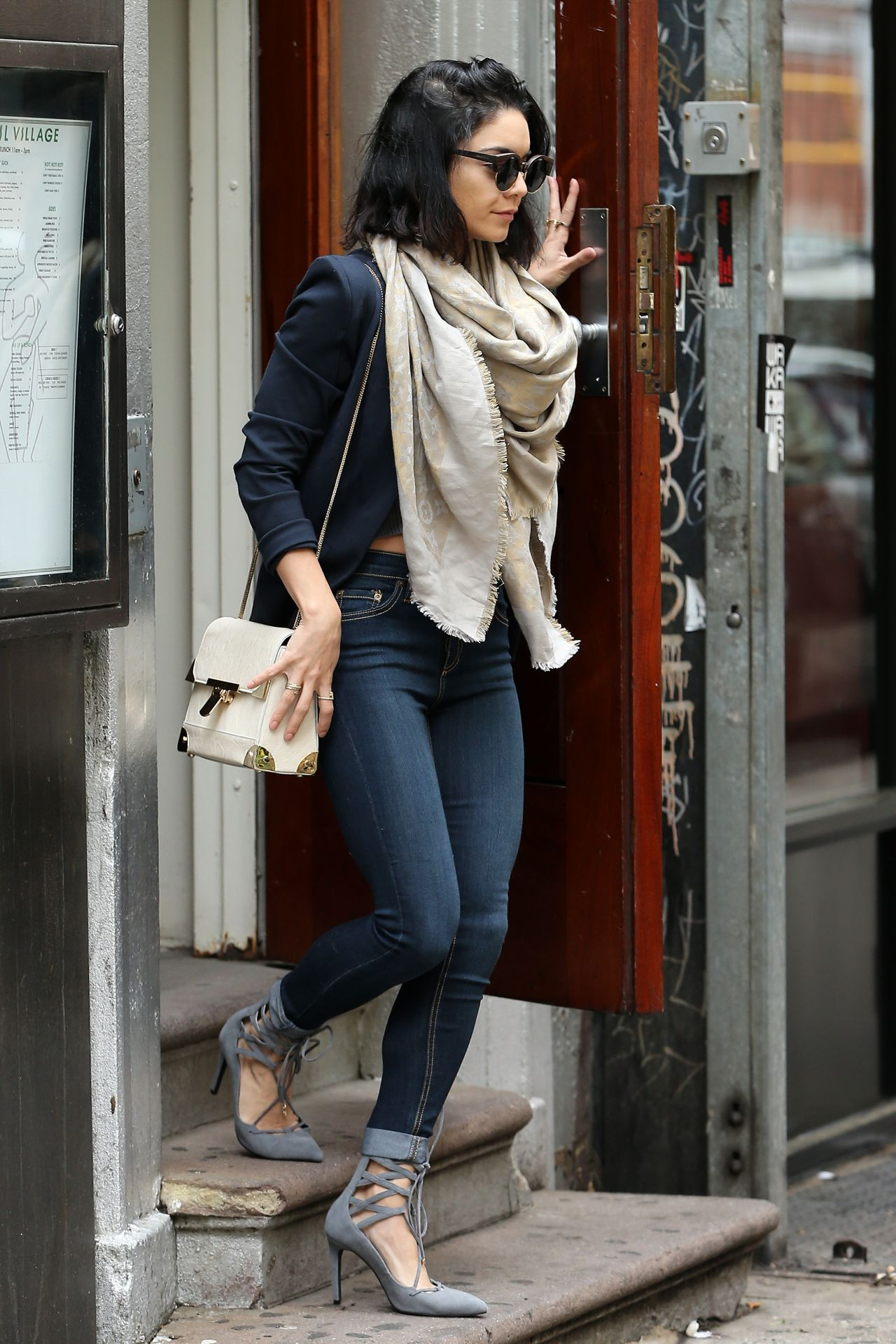 Vanessa Hudgens In Tight Jeans Out In New York City May