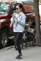 Vanessa Hudgens in Tights - Out in New York City, May 2015