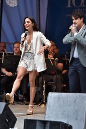 Vanessa Hudgens - #StarsInTheAlley Outdoor Concert Featuring Darren Criss in New York City