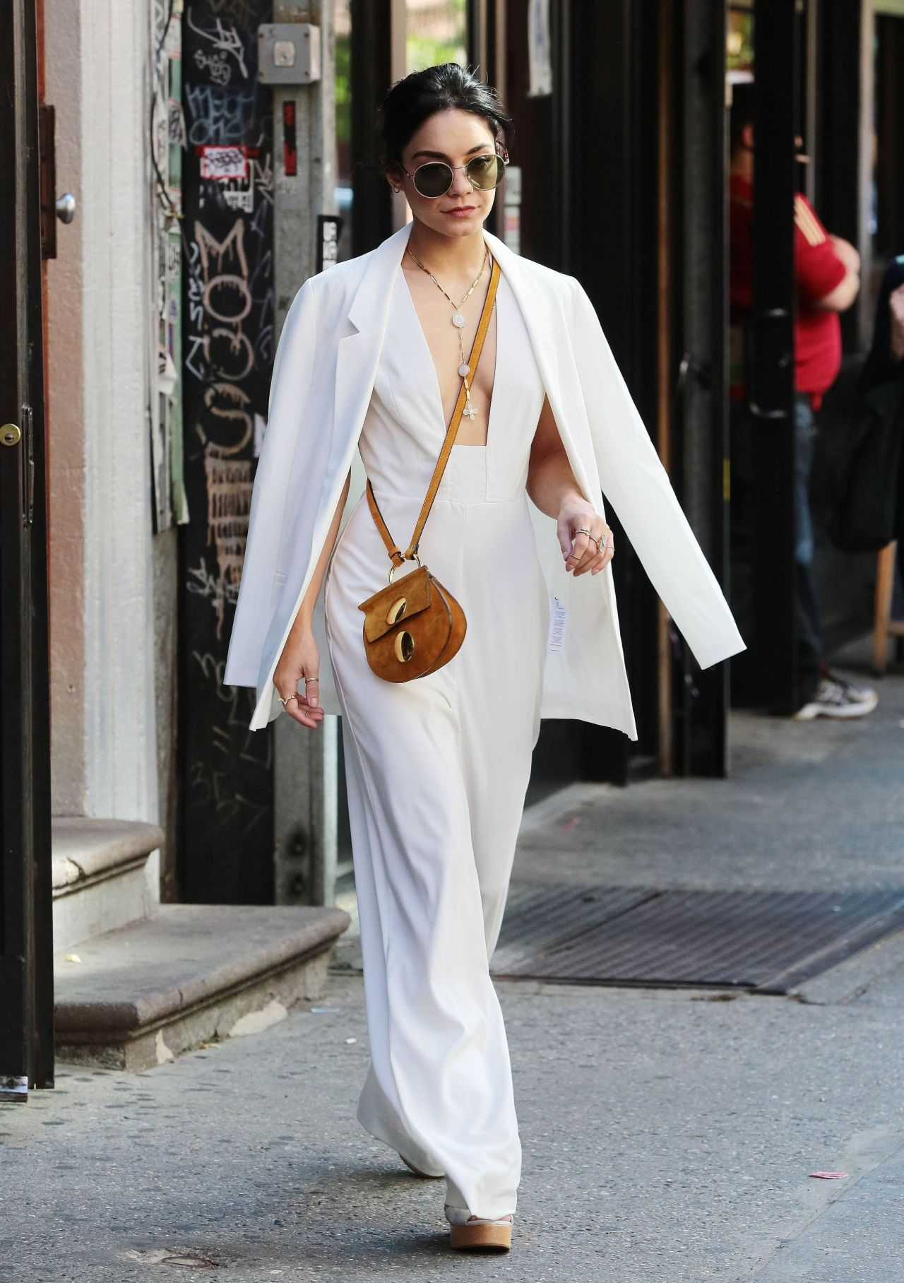 Vanessa Hudgens Street Fashion Leaving Her Apartment In New York City May 2015