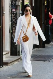 Vanessa Hudgens Street Fashion - Leaving Her Apartment in New York City, May 2015