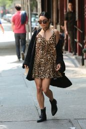 Vanessa Hudgens Street Fashion - Leaving Her Apartment in Soho, May 2015