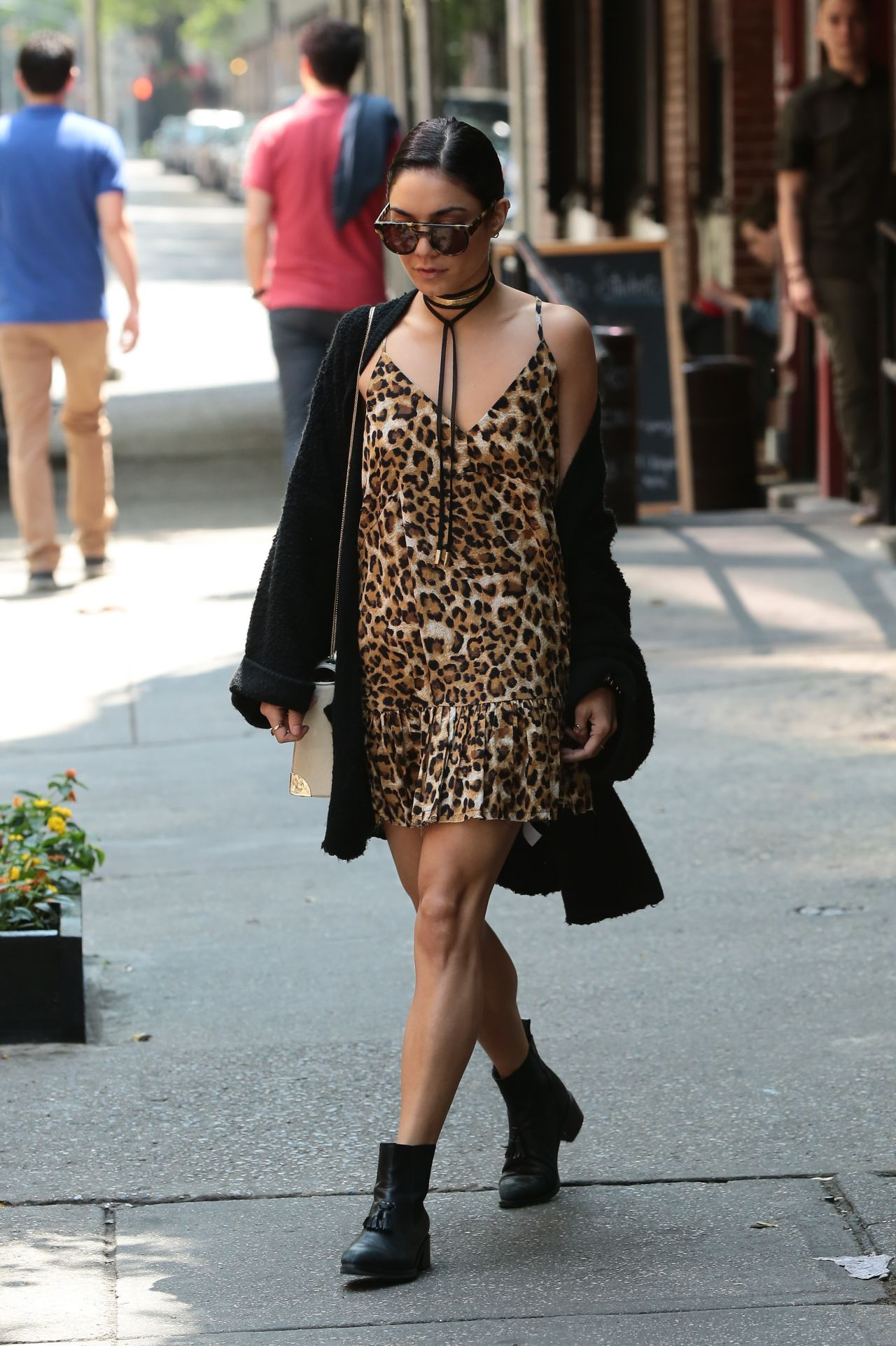 Vanessa Hudgens Street Fashion Leaving Her Apartment In Soho May 2015