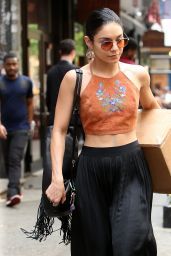 Vanessa Hudgens Street Style - Outside Her Apartment in Soho, New York City, May 2015