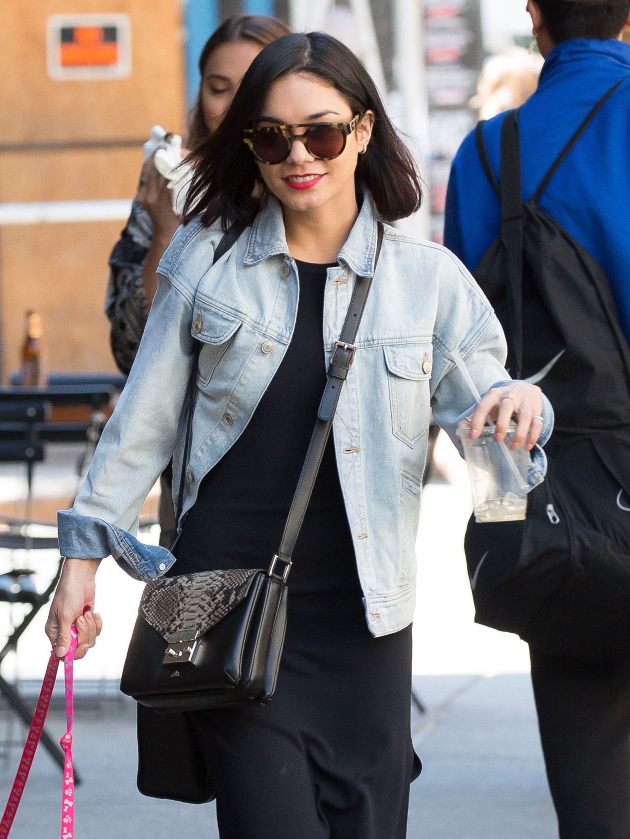 Vanessa Hudgens Street Style Walking Her Dog In New York City May 2015