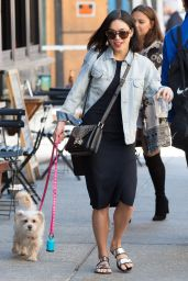Vanessa Hudgens Street Style - Walking Her Dog in New York City, May 2015
