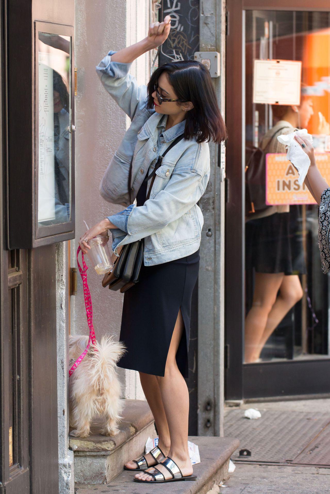 Vanessa Hudgens Street Style - Walking Her Dog in New York ...