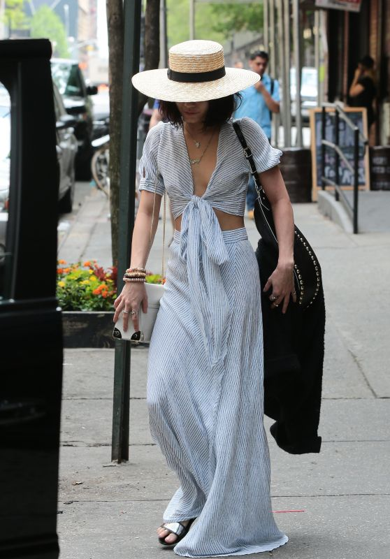 Vanessa Hudgens Style - Outside Her Hotel in NYC, May 2015