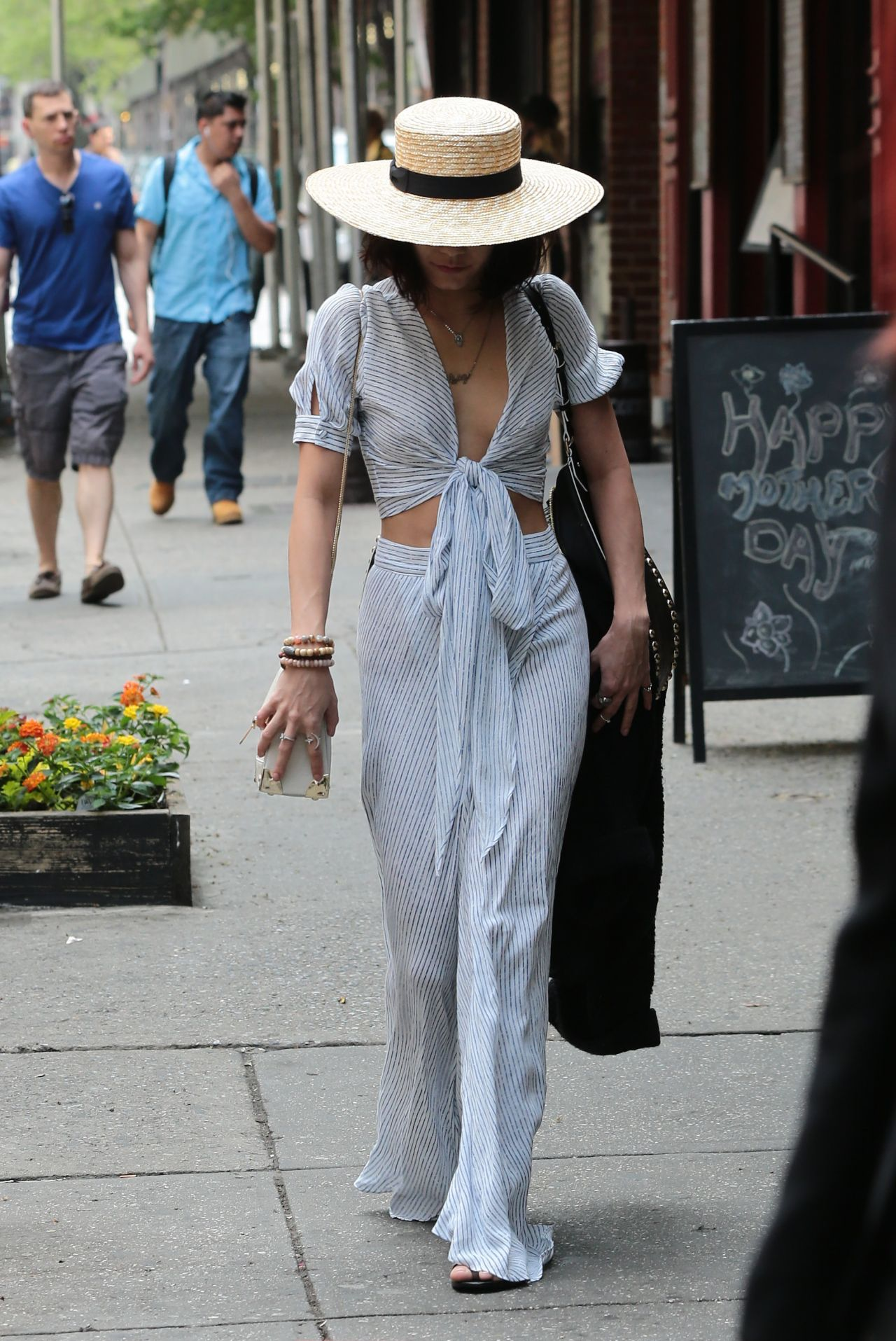 Vanessa Hudgens Style Outside Her Hotel In Nyc May 2015
