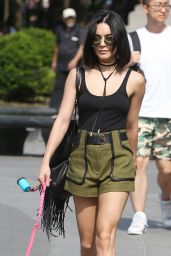Vanessa Hudgens - Taking Her Dog to a Park in New York CIty, May 2015