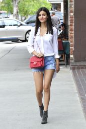Victoria Justice Leggy in Cutoffs - Out in Los Angeles - May 2015