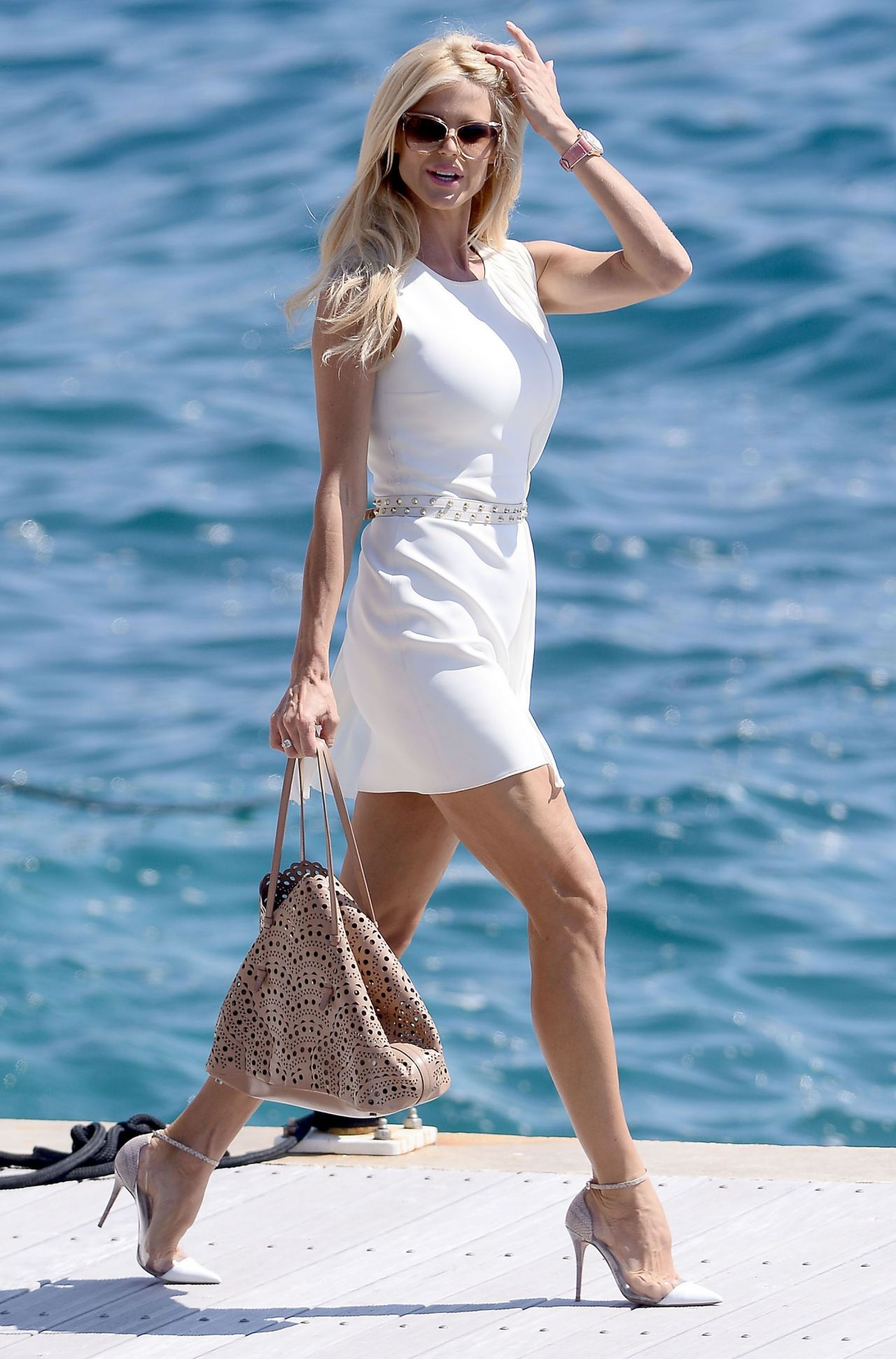 Victoria Silvstedt at the Hotel du Cap-Eden-Roc in Cannes ...
