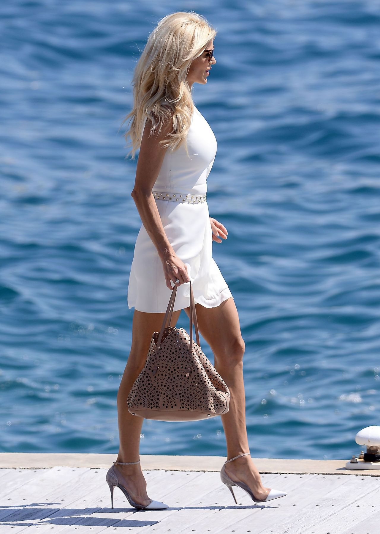 Victoria Silvstedt At The Hotel Du Cap Eden Roc In Cannes