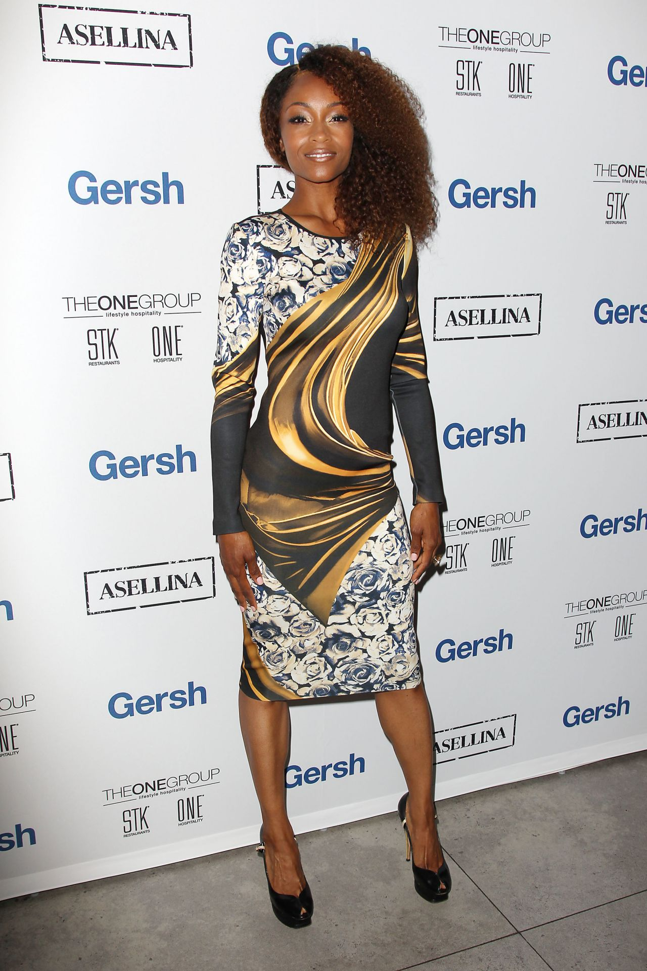 Yaya Dacosta 2015 Gersh Upfronts Party At Asellina At