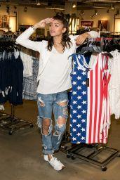 Zendaya Coleman - Material Girl Summer Collection Launch in Costa Mesa, May 2015