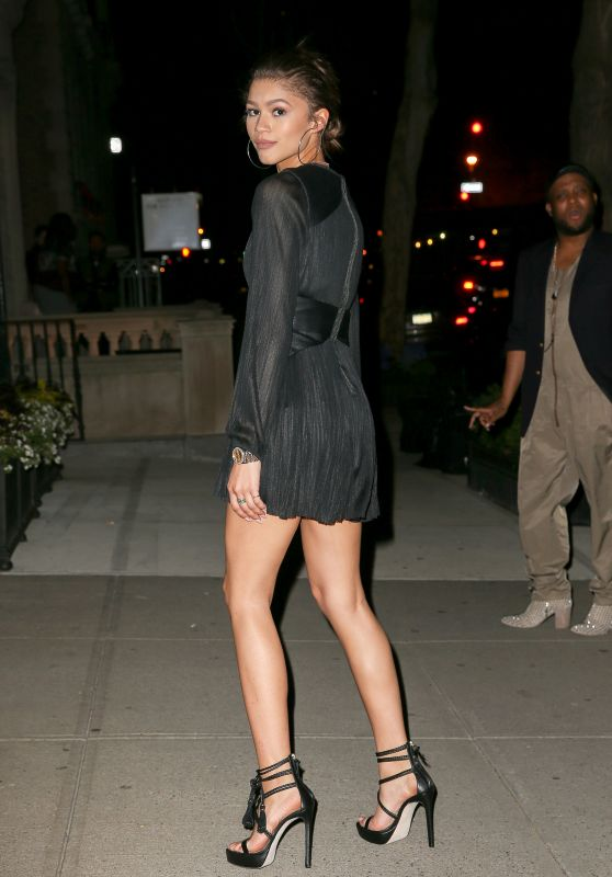 Zendaya Hot in Black Mini Dress - Out in NYC, May 2015