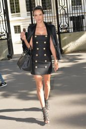 Alessandra Ambrosio - Balmain Fashion Show in Paris, June 2015